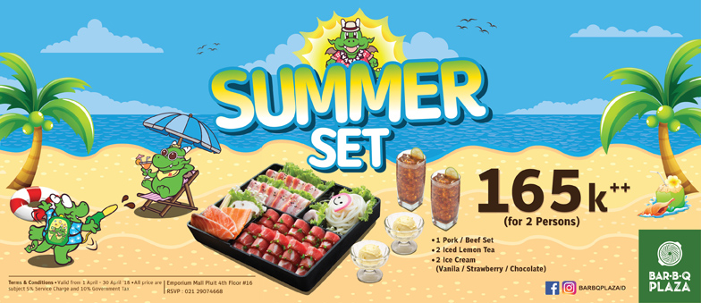SUMMER SET from Bar.B.Q Plaza, only Rp 165.000