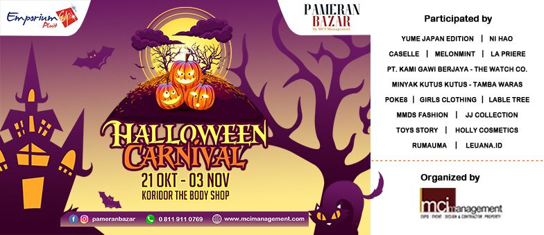 Halloween Carnival Bazaar by MCI Management!